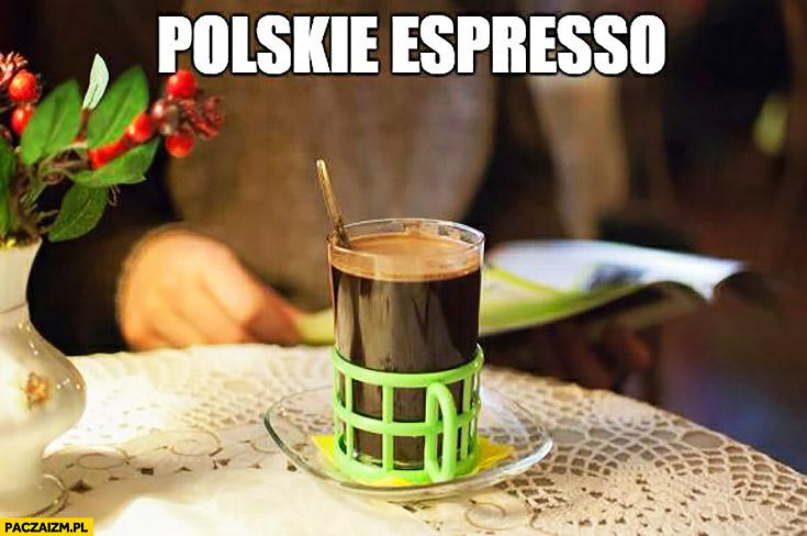 Polskie espresso kawa czarna inka w szklance