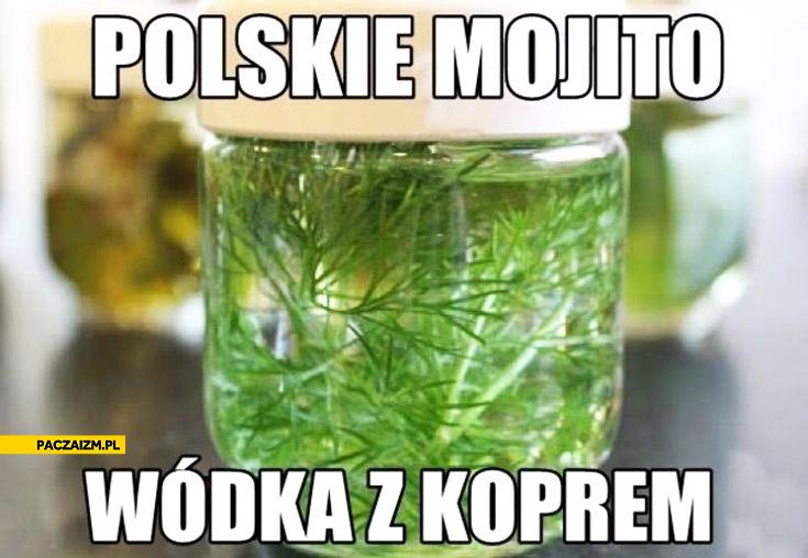 Polskie mojito wódka z koprem