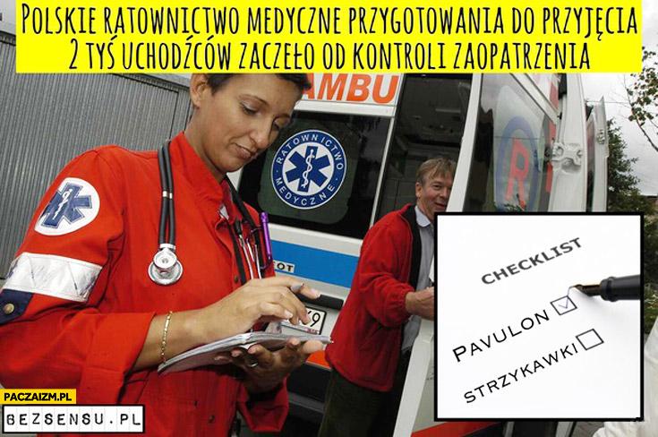 Polskie ratownictwo przyjęcie uchodźców Pavulon