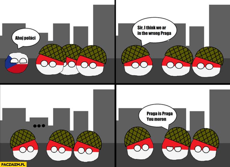 Polskie wojsko w Czechach to nie ta Praga polandball komiks