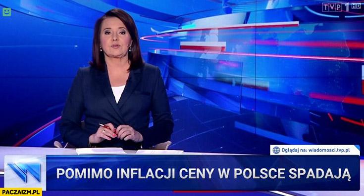 Pomimo inflacji ceny w Polsce spadają pasek wiadomości TVP