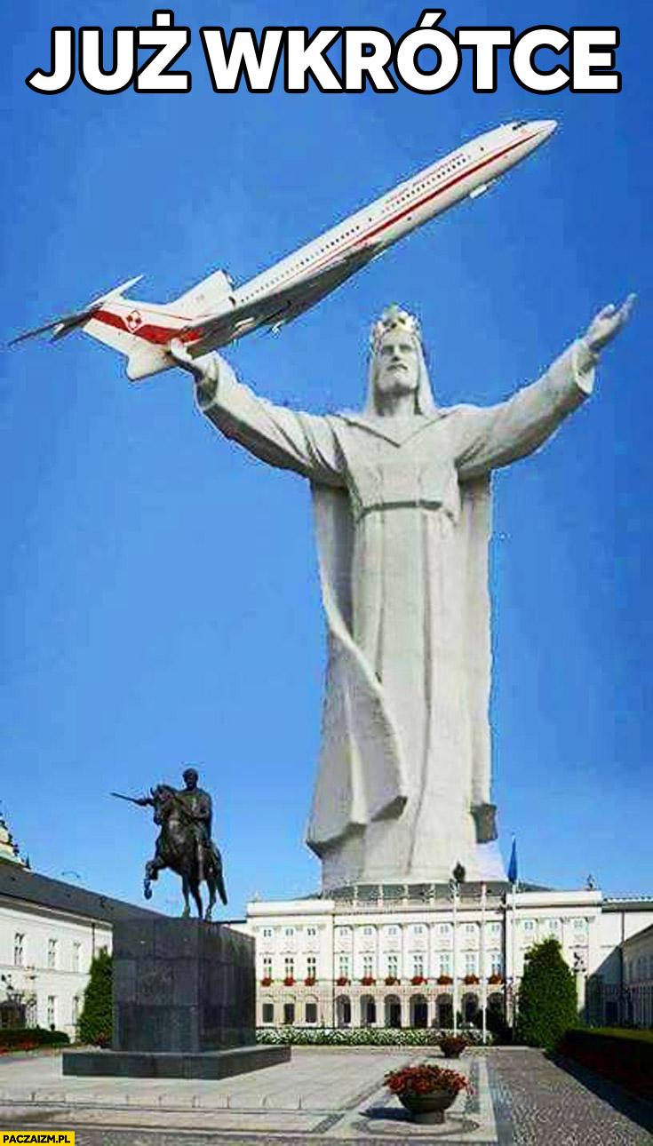 Pomnik Jezus Tupolew pod pałacem prezydenckim już wkrótce