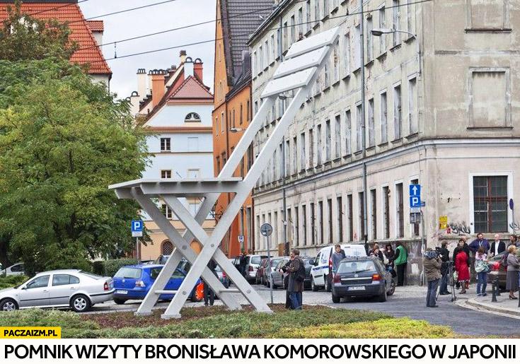 Pomnik wizyty Bronisława Komorowskiego w Japonii krzesło Wrocław