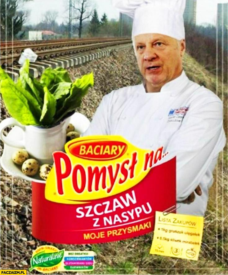 Pomysł na szczaw z nasypu kolejowego Niesiołowski Winiary