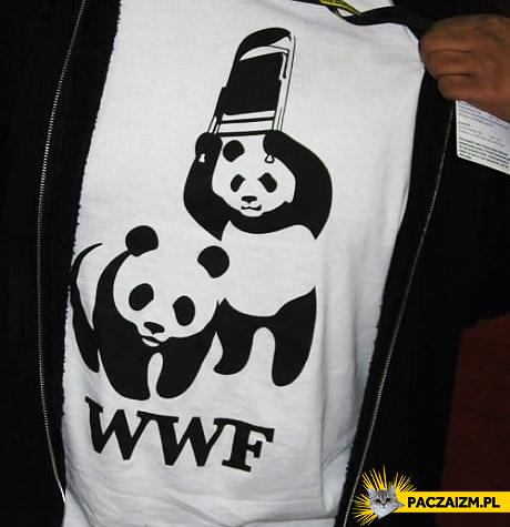 Pomysłowa koszulka WWF