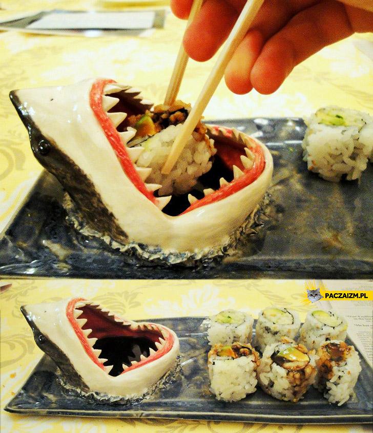 Pomysłowy pojemnik na sos do sushi
