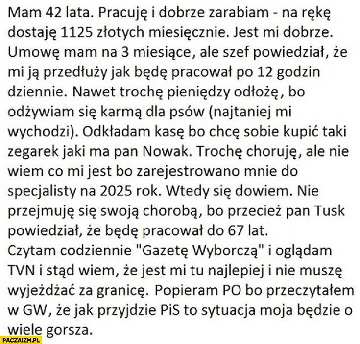 Popieram PO jak przyjdzie PIS będzie gorzej polska zielona wyspa