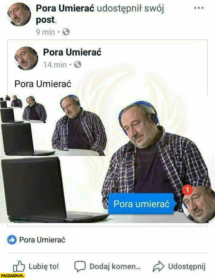 Pora umierać Tadeusz Drozda na facebooku