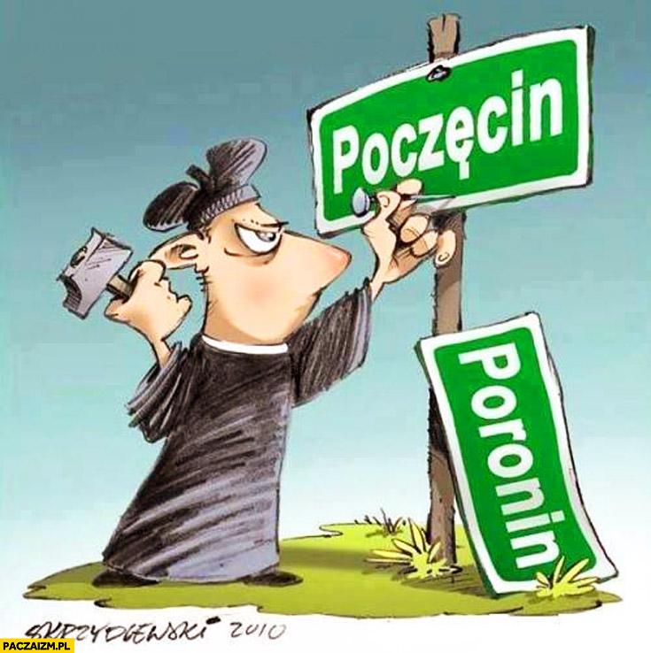 Poronin Poczęcin ksiądz nazwa miejscowości