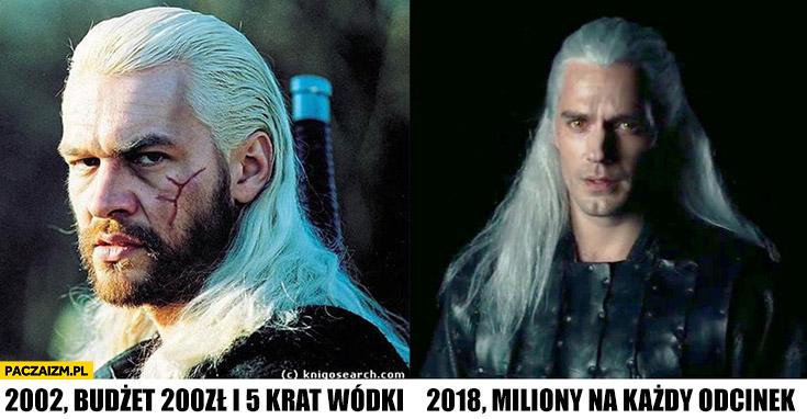 Porównanie Polski Wiedźmin w 2002 vs Wiedźmin Netflixa w 2018 budżet 200zł vs miliony na każdy odcinek