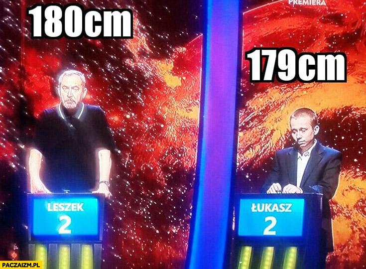 Porównanie wzrostu 180cm, 179cm uczestnicy 1 z 10 Jeden z dziesięciu