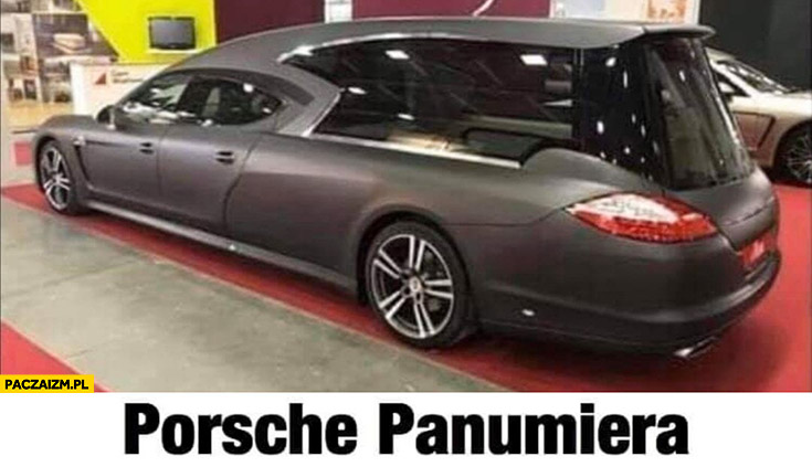 Porsche Panamera pogrzebowa karawana panumiera