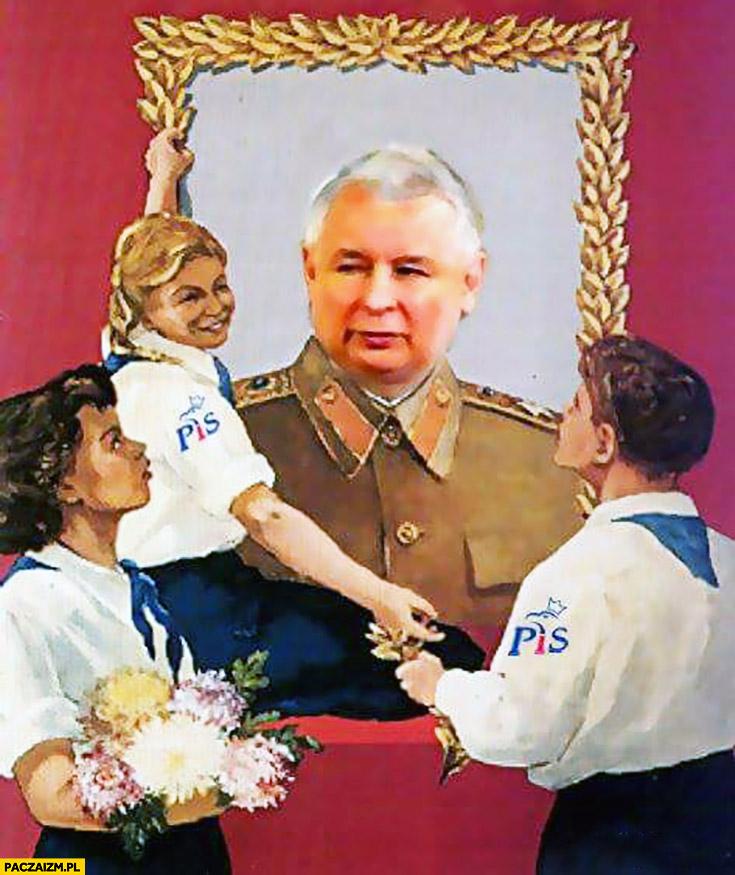 Portret wodza narodu Kaczyński PiS