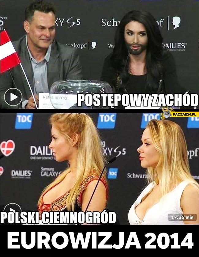 Postępowy zachód polski ciemnogród Eurowizja 2014