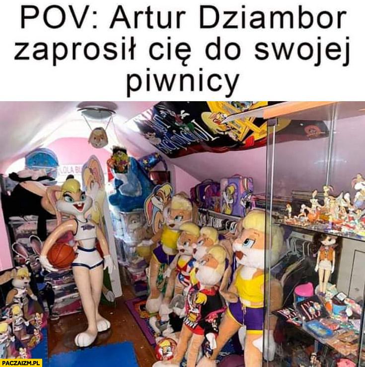 POV: Artur Dziambor zaprosił Cię do swojej piwnicy Lola królik Bugs