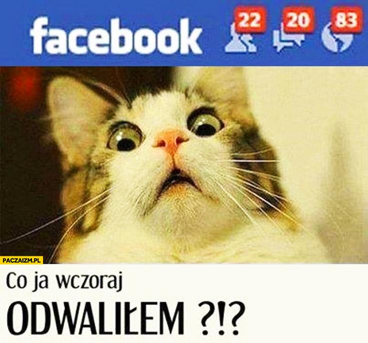 Powiadomienia na facebooku co ja wczoraj odwaliłem kot
