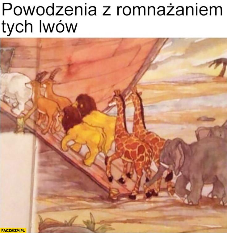 Powodzenia z rozmnażaniem tych lwów Arka Noego dwa samce