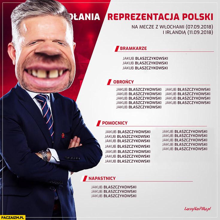 Powołania reprezentacji Polski Jerzy Brzęczek tylko sam Błaszczykowski przeróbka