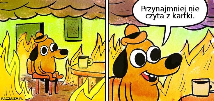 Pożar ale przynajmniej nie czyta z kartki Andrzej Duda Komorowski