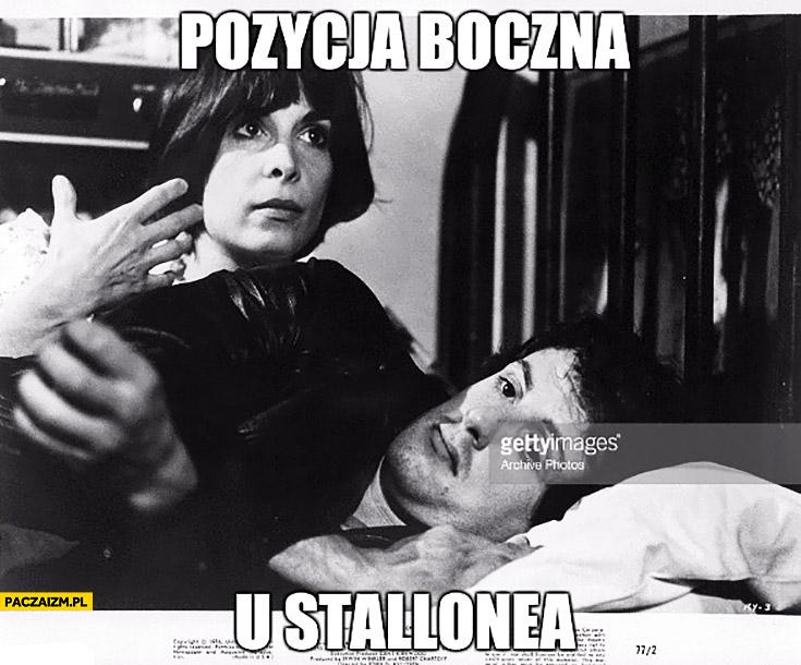 Pozycja boczna u Stallone'a Sylvester Stallone