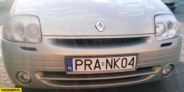 Prank rejestracja samochodu PRA NK04