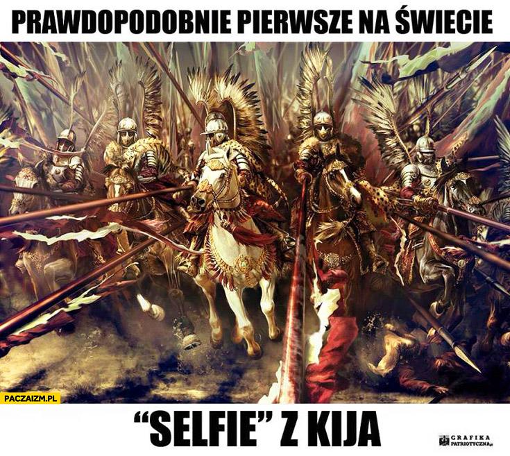 Prawdopodobnie pierwsze na świecie selfie z kija husaria