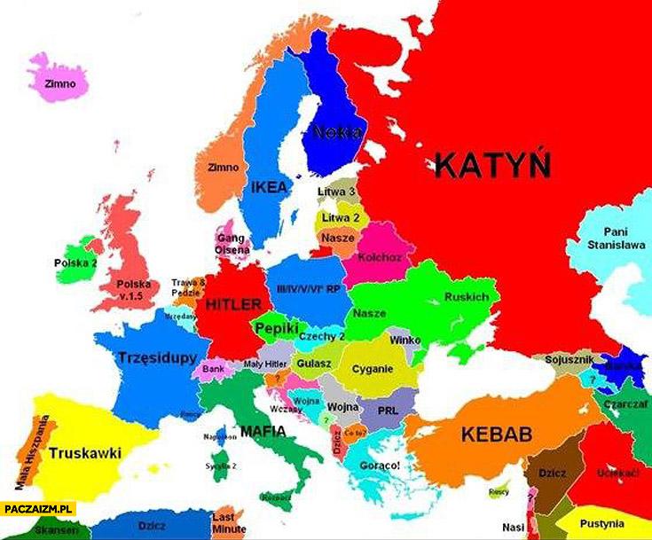 Prawdziwa mapa Europy kebab katyń ikea hitler