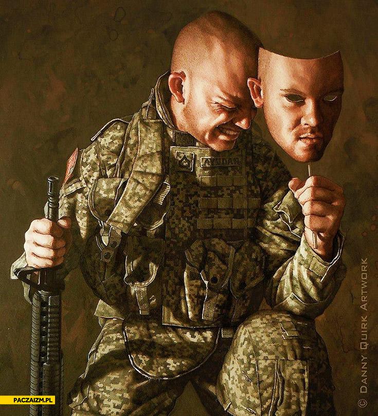 Prawdziwa twarz żołnierza