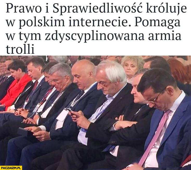 Prawo i sprawiedliwość króluje w polskim internecie pomaga w tym zdyscyplinowana armia trolli posłowie
