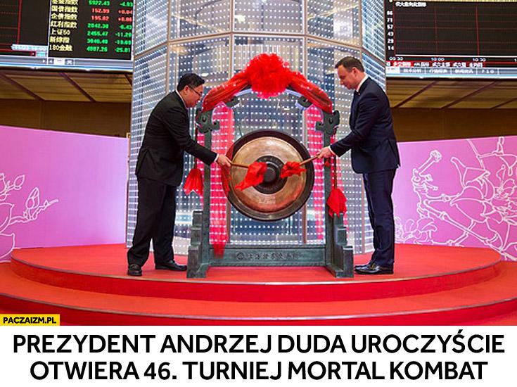 Prezydent Andrzej Duda uroczyście otwiera 46. Turniej Mortal Kombat