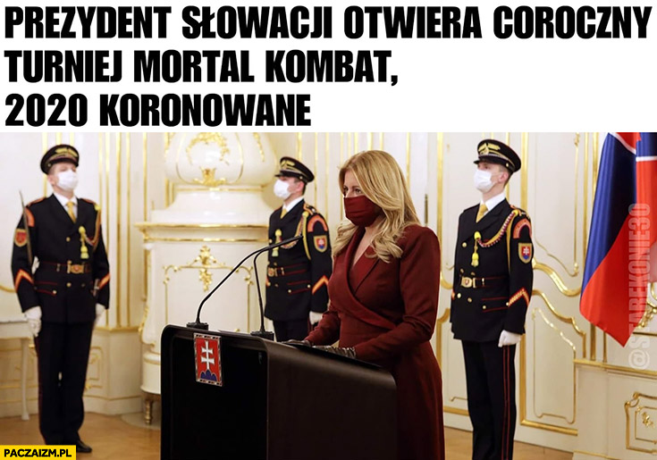 Prezydent Słowacji otwiera coroczny turniej Mortal Kombat 2020 koronowane