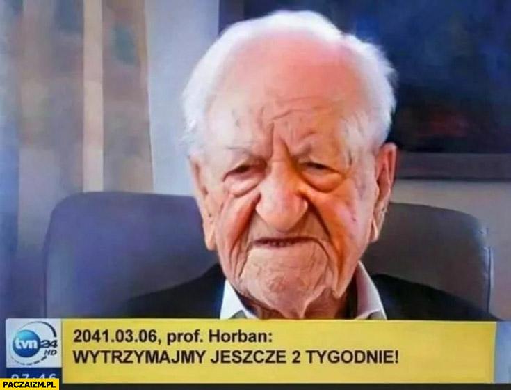 Prof Horban w roku 2041 wytrzymajmy jeszcze 2 tygodnie przeróbka