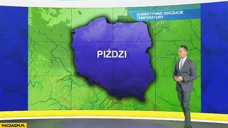 Prognoza pogody TVN piździ w całej Polsce