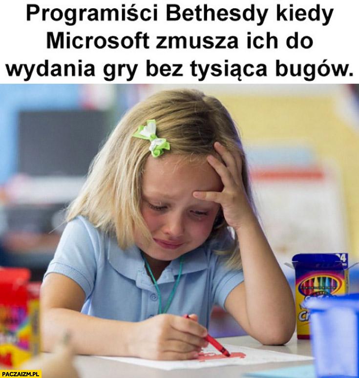 Programiscy Bethesdy kiedy Microsoft zmusza ich do wydania gry bez tysiąca bugów