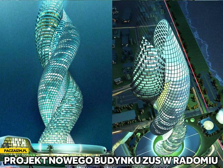 Projekt nowego budynku ZUS w Radomiu