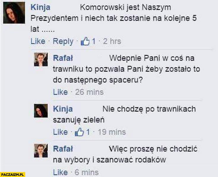 Proszę nie chodzić na wybory i szanować rodaków Bronek Komorowski