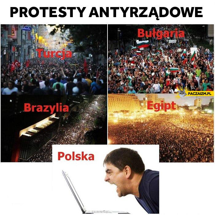 Protesty antyrządowe na świecie