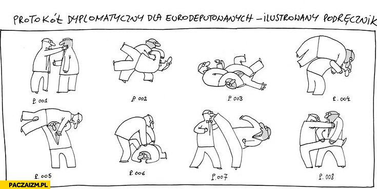 Protokół dyplomatyczny dla eurodeputowanych ilustrowany podręcznik