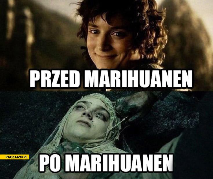 Przed marihuanen po marihuanen