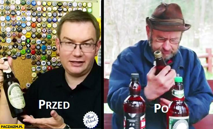Przed po Tomek Kopyra Wiesław Wszywka