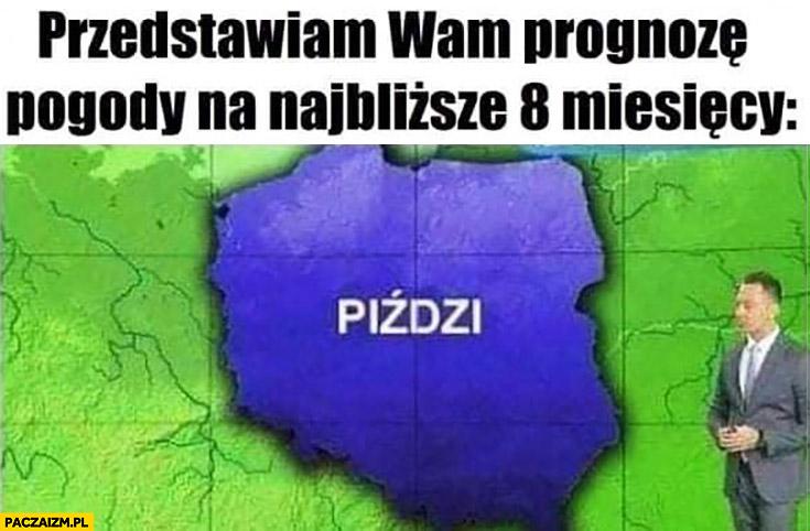 Przedstawiam wam prognozę pogody na najbliższe 8 miesięcy w całej Polsce piździ