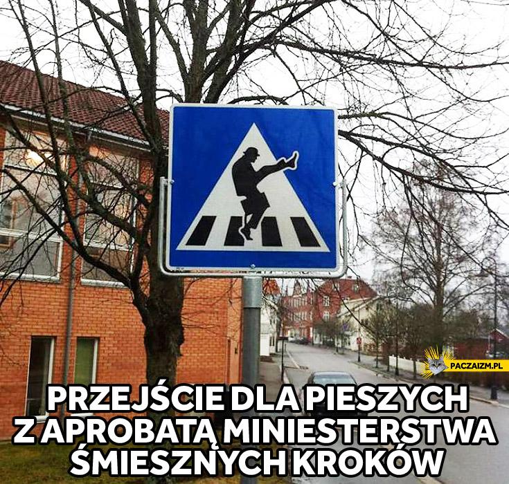 Przejście dla pieszych ministerstwo śmiesznych kroków