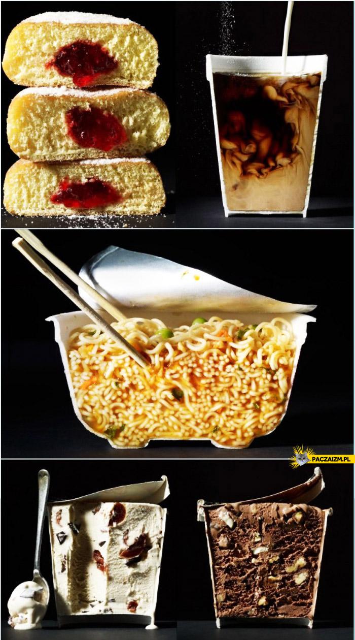 Przepołowione jedzenie