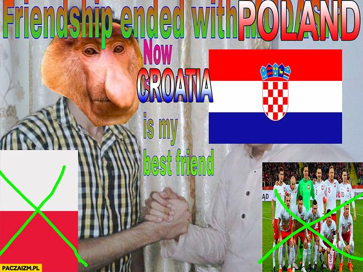 Przyjaźń z Polską zakończona teraz Chorwacja jest moim najlepszym przyjacielem friendship with Poland ended typowy Polak nosacz małpa mundial Indie przeróbka