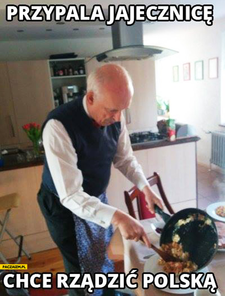 Przypala jajecznicę chce rządzić Polską Korwin