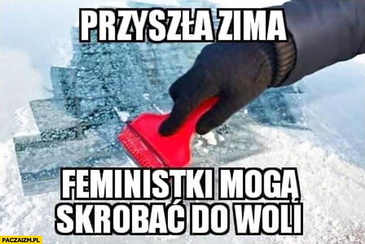 Przyszła zima, feministki mogą skrobać do woli szyby w samochodzie