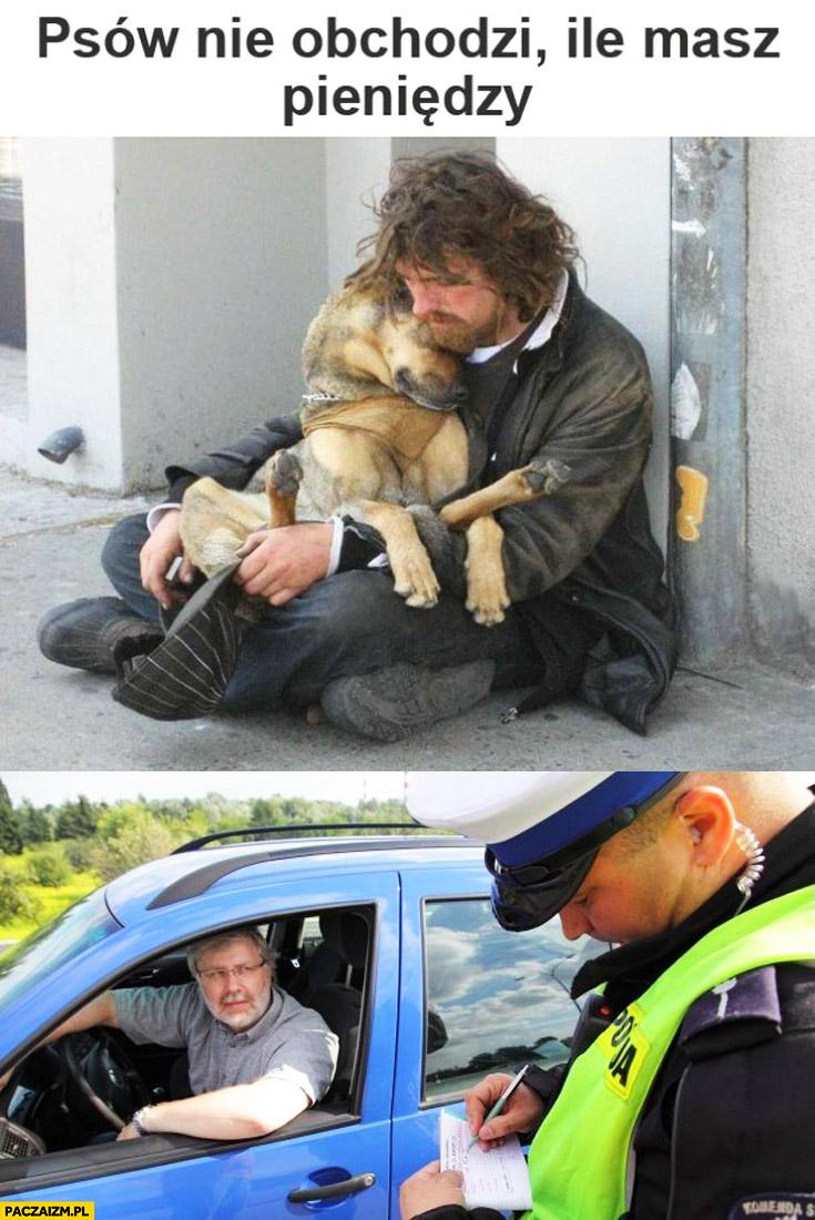 Psów nie obchodzi ile masz pieniędzy policjant pisze mandat