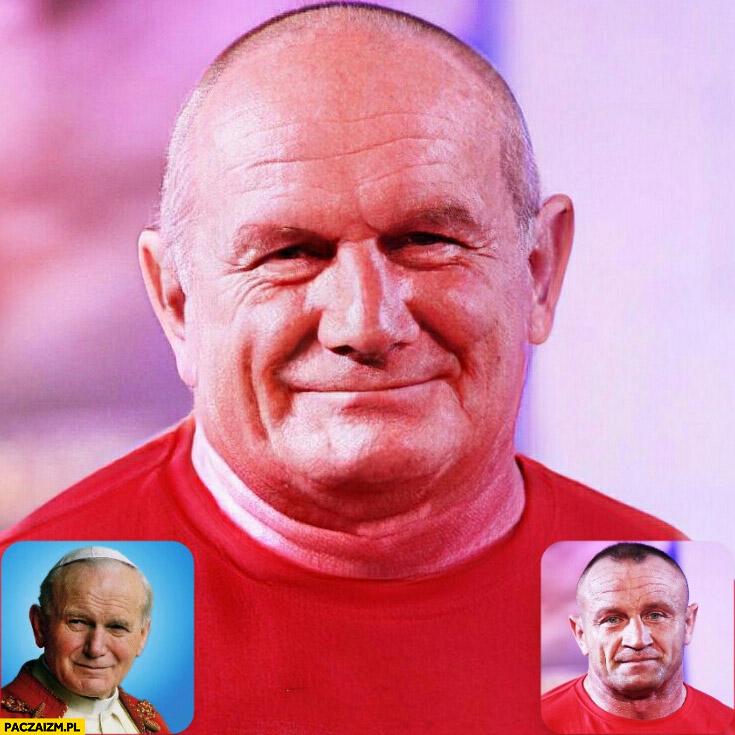 Pudzian Jan Paweł II papież twarz faceapp face swap