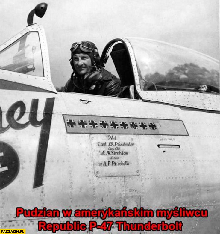 Pudzian w Amerykańskim myśliwcu Thunderbolt