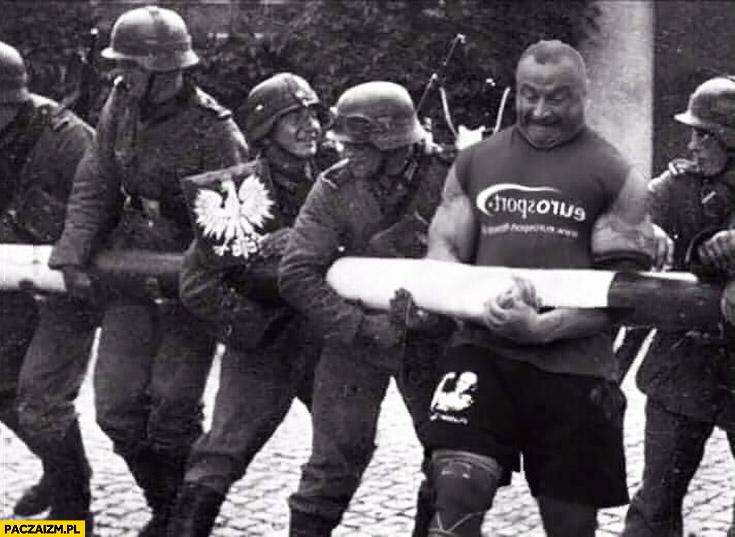 Pudzianowski pomaga Niemcom otworzyć przenieść granicę druga wojna przeróbka